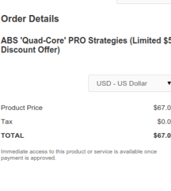 ABS Quad Core PRO Strategies Discount