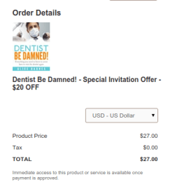 Dentist Be Damned Discount
