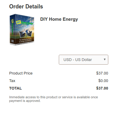 DIY Home Energy System Discount